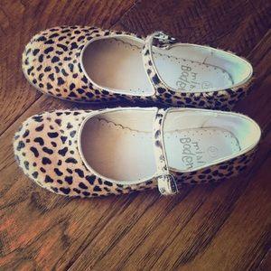 Cheetah print Mini Boden little girls dress shoes